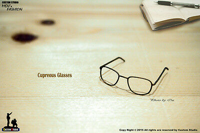 1/6 Scale Bronze Metal Glasses For Walter White Breaking Bad Kit Bash Custom Use