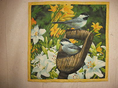 Chickadees by James Hautman  Quilted Wall Hanging