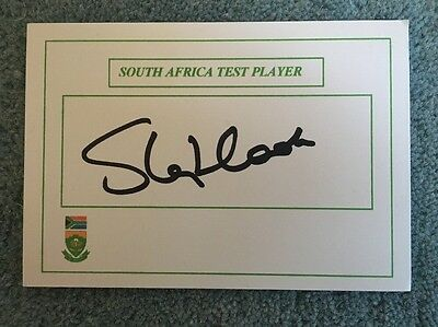 Stephen Cook hand signed South Africa test cricketer card