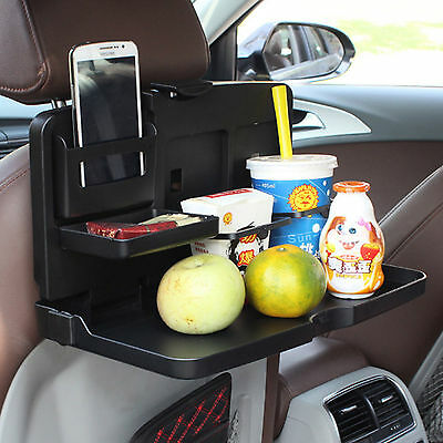 Auto Dining Table Car Food Back Seat Folding Tray Cup Holder Drink Desk Kids