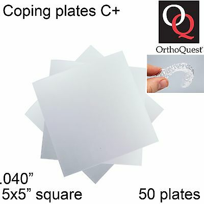 50 Dental Ortho Quest Plastic C+ Retainer Vacuum Form Plates Coping .040inch