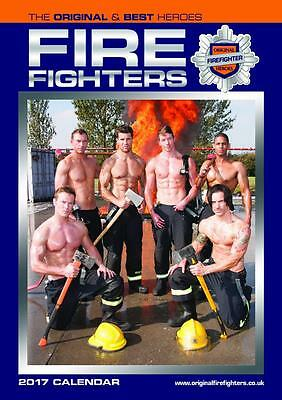 Firefighters Fireman 2017 Large Poster Wall Calendar New With Free Uk Postage !!