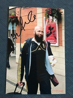 Hashim Amla South Africa test cricketer hand signed 6x4 inch photograph