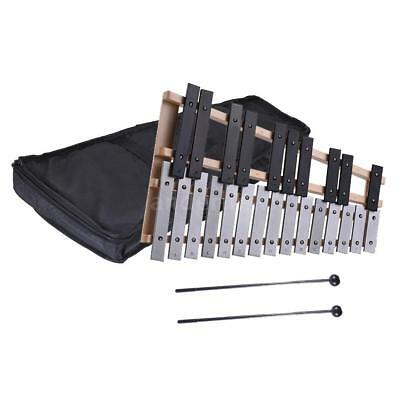 25 Note Kid's Glockenspiel Xylophone Bells Kit with Molded Case New Y0N1