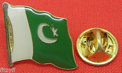 10 PCS x Pakistan Country Flag Lapel Hat Cap Tie Metal Pin Badge Brooch Joblot