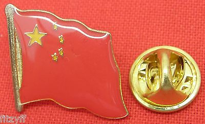 10 PCS x China Chinese Country Flag Lapel Hat Cap Tie Pin Badge Brooch Joblot