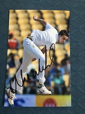 Morne Morkel South Africa test cricketer hand signed 6x4 inch photograph