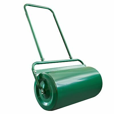 Large Heavy Duty 48 Litre Garden Lawn Roller Barrel Outdoor Grass Seed Sand Fill