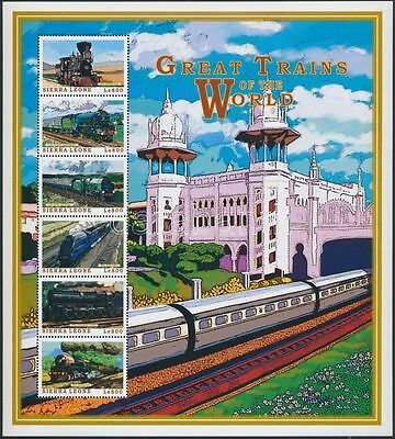 Sierra Leone stamp Locomotives from all over the world 1999 MNH WS217409