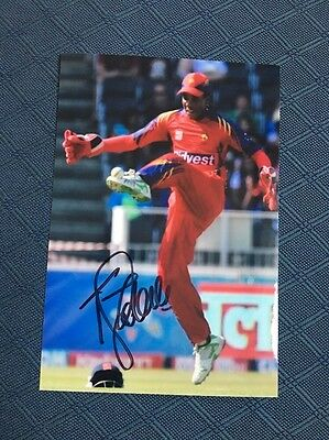 Thamo Tsolekele South Africa test cricketer hand signed 6x4 inch photograph