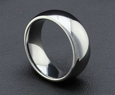 New Mens Ladies Silver Stainless Steel Wedding Ring Band Sz S 1/2