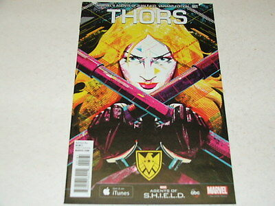 Thors 1 AGENTS OF SHIELD 1:15 VARIANT (Marvel Comics) Aug 2015 THOR