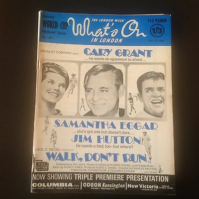 What's on magazine July 22, 1966 Cary Grant  walk don't run dirk Bogarde