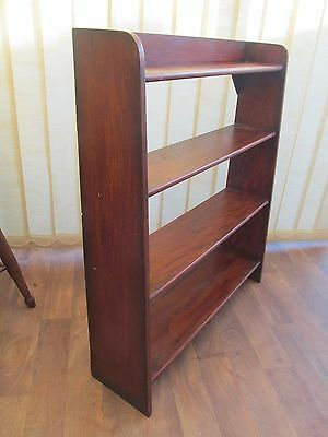 4 Shelf Open Waterfall Bookcase  Display Unit H 92 cm W 78  Vintage  Furniture
