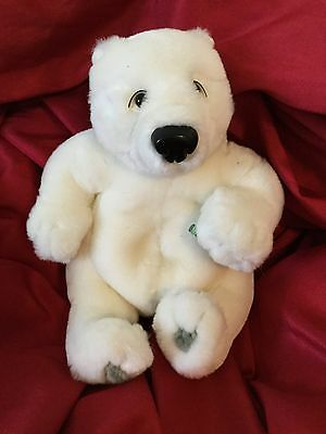 "Coca Cola Polar Bear bean bag plush 6.5"" B50"