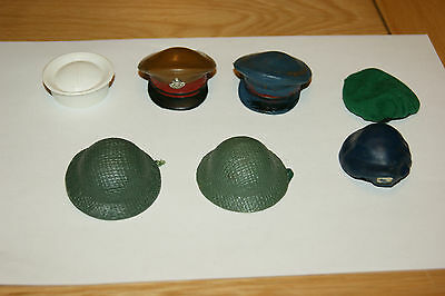 Vintage Action Man job lot hats and berets
