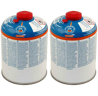 2x Brightspark D4 450g Screw Fit Dome Gas Cartridge Bottle Camping Cooking Grill