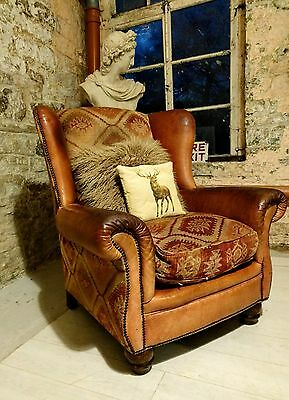 241 Chesterfield leather tetrad 'eastwood' vintage armchair brown cigar club
