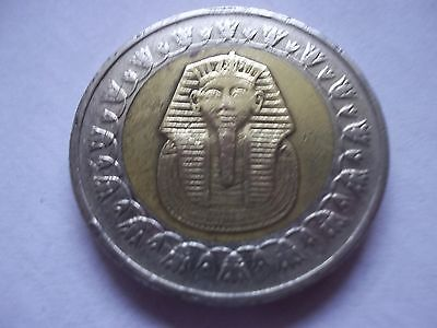 Egypt Highly Collectible  King Tut One Pound Coin Date 2008 [#b200] Single Coin