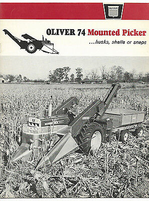 1964 Oliver 74 Mounted Corn Picker Brochure 1600 1800  Tractor