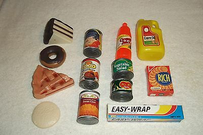 Lot Of 13 Play Pretend Food Child's Kitchen Items Plastic Vg Condition