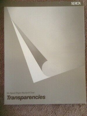 Xerox 100 Sheets Paper Bavked / Clear Transparency Film