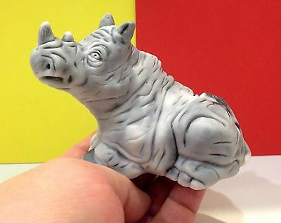 Rhino decorative figurine marble chips from Russia for the collection rhinoceros
