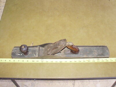 """Vintage Stanley Bailey No.7 Large Corrugated Wood Plane 22"""" As Is"""
