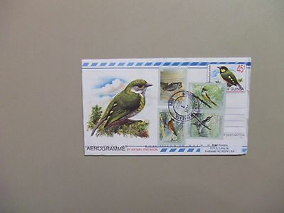 Papua New Guinea aerogramme used from Canada with BIRD set