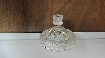 EAPG Jefferson Glass Iris with Meander Clear with Gold Sugar Lid circa 1903