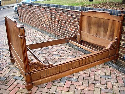 Vintage French Wooden Sleigh Bed, Day Bed,  Lit Bateau ~ Single Size