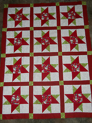 Christmas  --  quilt top   **new**   (45 x 58)