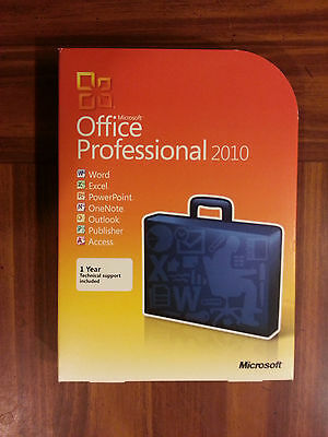 Microsoft Office 2010 Professional 1 PC Word/Excel/Outlook/Access DVD NEW SEALED