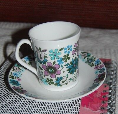 Carnaby Fine Bone China Cup And Saucer - Elizabethan Floral Design