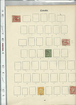 Trade Price Stamps Canada Used On Old Album Pages