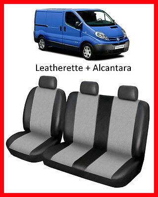 Tailored seat covers for Nissan Primastar  200 - 2014  Leatherette + Alcantara
