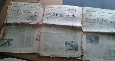 Isle of Man TT Special Newspapers 1954x2 and 1950