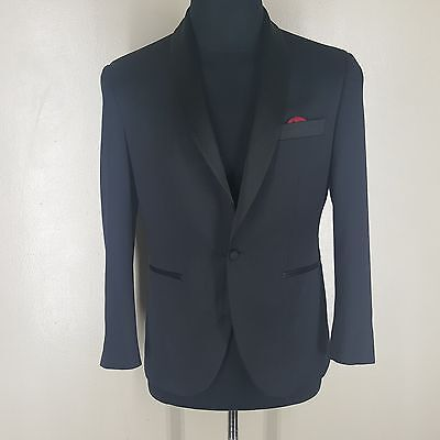 Indochino Black Shawl Collar One Btn. Wool Dinner Jacet No Vents Approx.37-38 Sh