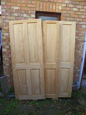 3 Clear Pine Internal Four Panel Doors (solid wood composite)