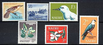 Nauru (125)  1963 large part set from Sg57-64 Lightly Mounted mint