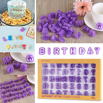 40 Alphabet Number Letter Cookie Cutter Fondant Cake Decorating Icing Mold Mould