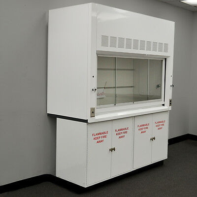 6' Chemical Laboratory Fume Hood with Epoxy Top / Flammable Cabinets NLS 605 --