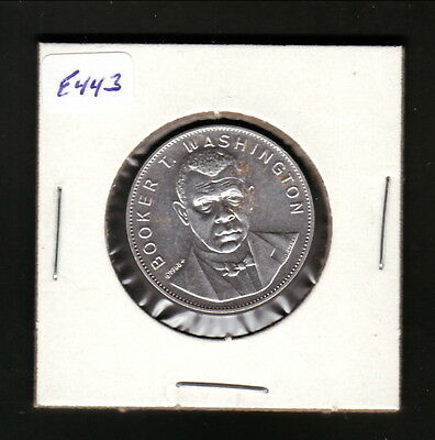 Booker T Washington--1969 Shell Famous Faces & Facts Coin