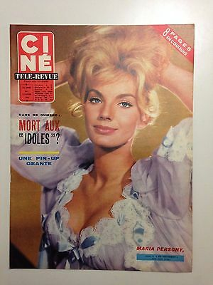 Cine Tele-Revue N°4 Janv 1964 Couv Maria Perschy / Poster Ursula Andress