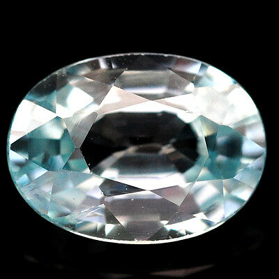 1.85 Ct. 8.2 x 6.1 x 3.6 mm. Natural Earth Mined Gem Stone Oval Blue Zircon