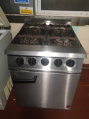 Commercial Falcon 4 Burner Gas Cooker With Oven