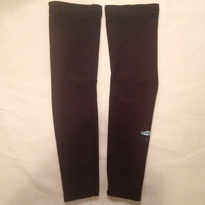 Lusso cycling arm warmers. Black. Size large.