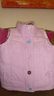 Girls (age 3) pink JOULES cotton toasty warm padded body warmer/gilet