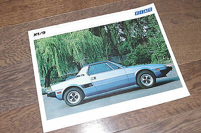 Fiat X1/9 1979 FRENCH dealer publicity sheet page