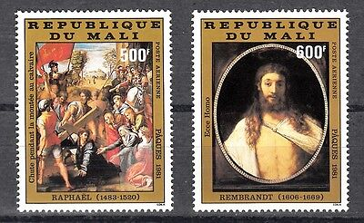 Mali Sc# C419-C420 Raphael Paintings - Easter 1981 - Mnh